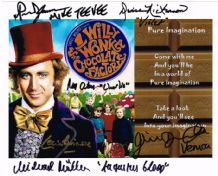 Willy Wonka and the Chocolate Factory  Cast Signed Photo
